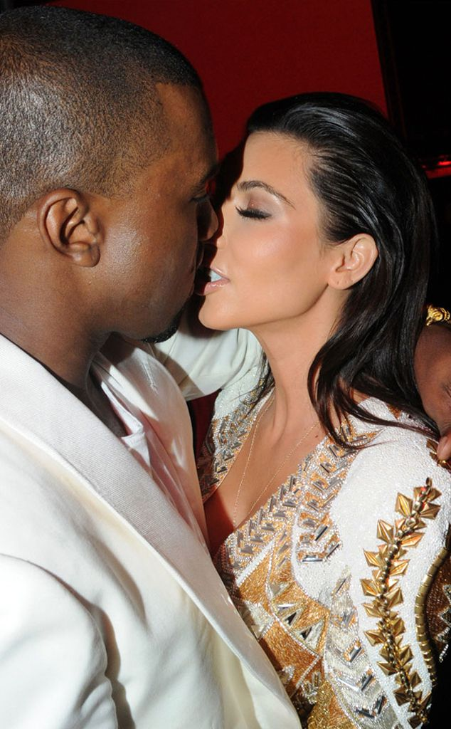 Cannes Kiss from Kim Kardashian and Kanye West's Road to Baby | E! Online