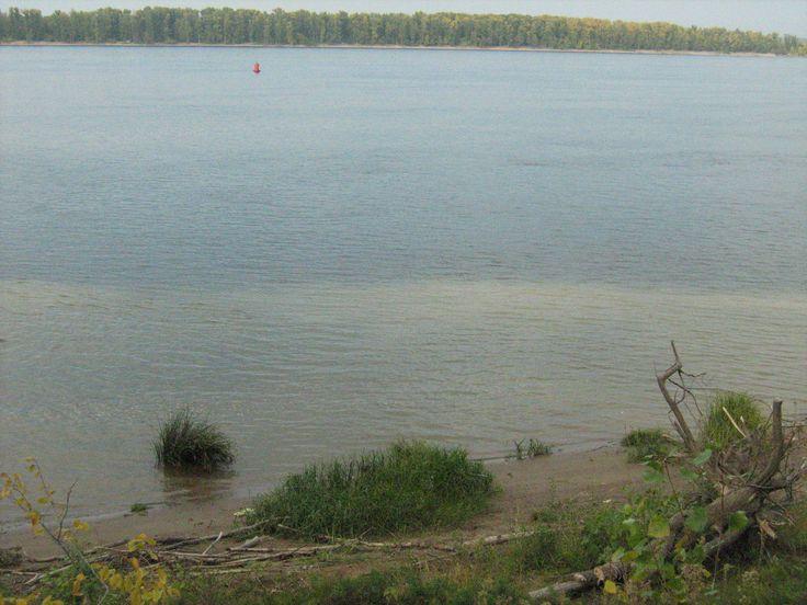 Река Волга в г. Балаково Саратовской области.
