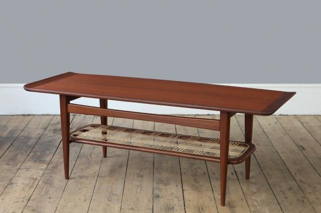 Vintage Dutch Rattan Coffee Table for sale at Pamono