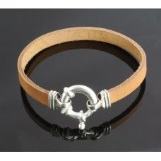 Charlotte Leather Bracelet - Available in tan, black and chocolate Leather, Sterling Silver, Pearl (optional extra)