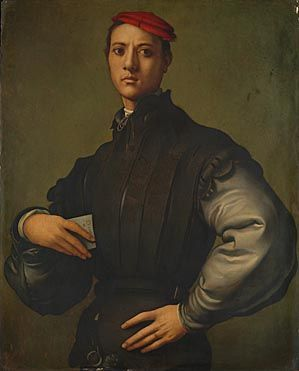 Portrait of a Young Man in a Red Cap (Carlo Neroni) 1529, Pontormo, NG London: