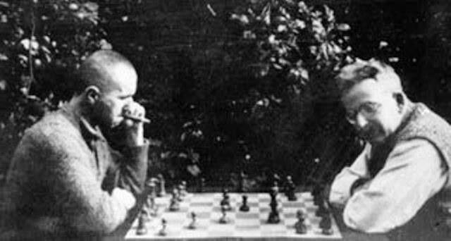 Bertold Brecht - Walter Benjamin - Svendborg, Denmark 1934