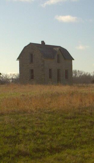 Native limestone house Hwy 77 Randolph,Ks.