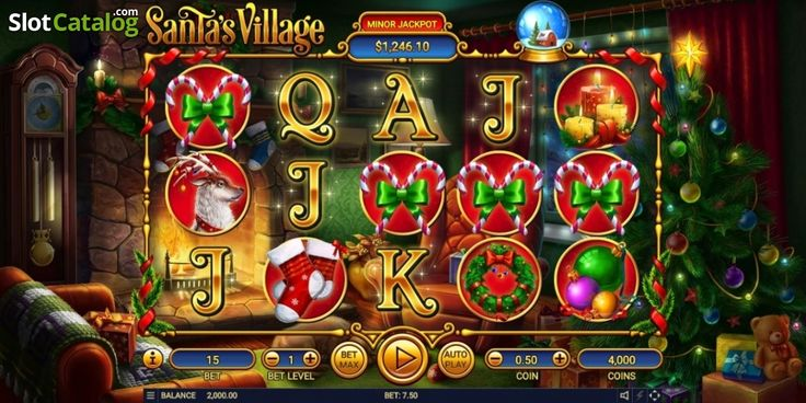 Game Workflow screen. Santa's Village (Video Slot from Habanero)