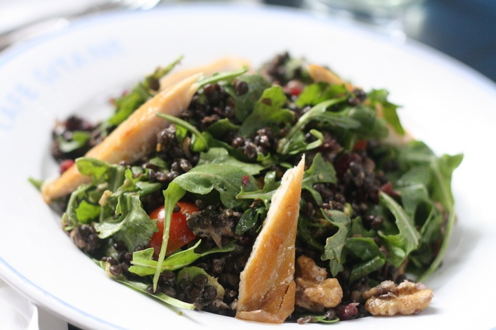Arugula And Lentil Salad With Goat Cheese Recipe — Dishmaps