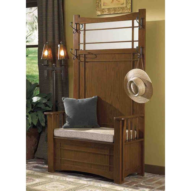 Foyer Seating Nj : Ideas about entryway hall tree on pinterest pallet