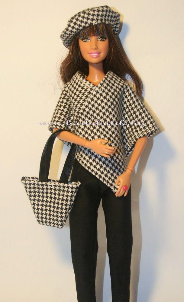 Barbie poncho, free pattern