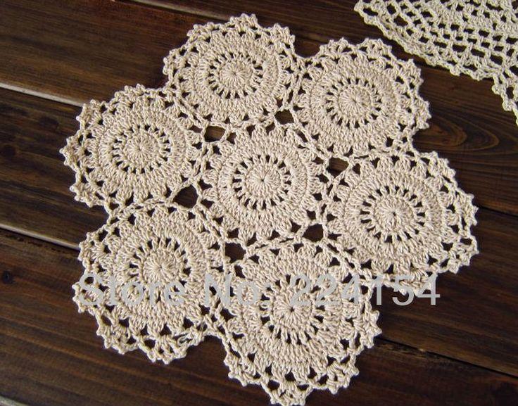 17 best images about crochet table mat on pinterest cup - Set de table crochet ...