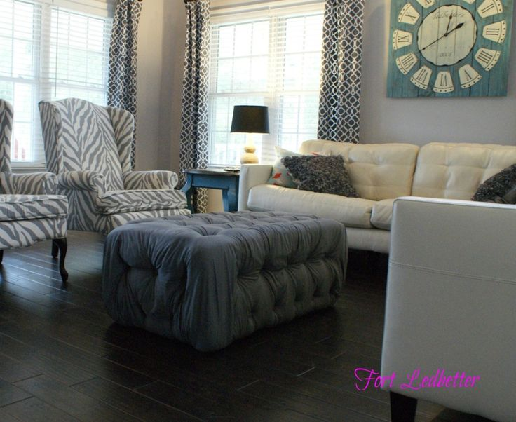 Cream Leather Accent Chairs Diy Chair Covers For Baby Shower Perfect Living Room Colors!! Sofa, Gray/blue Walls And Chairs! | ...