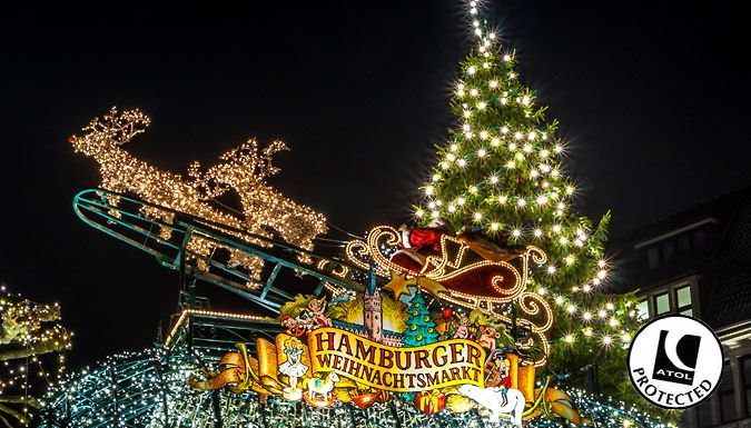 UK Holidays: Hamburg, Germany: 2-4 Night Christmas Markets Break With Hotel & Flights - Up to 56% Off for just: £79.00 Prepare for a merry little Christmas; take in Hanseatic heritage at Hamburg's festive markets      Snooze in style at the Apartment Hotel Hamburg Mitte when you've had your fill of market fun      The hotel is home to a lavish in-house restaurant and lounge with Wi-Fi and Sky...