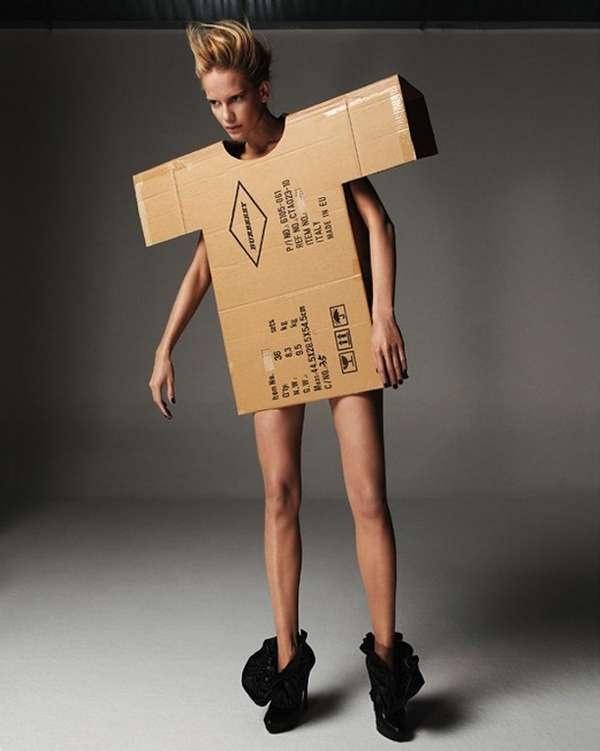 22 Crafty Cardboard Clothes - From DIY Costumes to Cardboard Fashion Shows (TOPLIST)