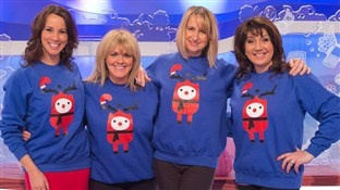 Loose Women in their Cheesy Christmas jumpers :)