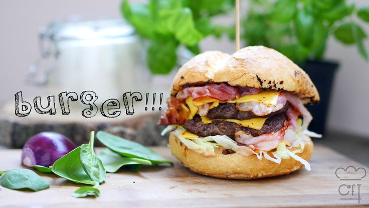 hamburger, przepis na hamburgera, hamburger z wołowiny, chef of taste, przepis na prosty hamburger, hamburger z grilla,