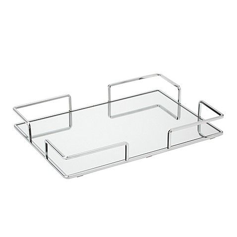 Home Details Large Rectangular Chrome Vanity Mirror Tray Mirror