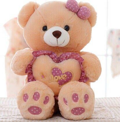 1 unidades pequeño tamaño 55 cm del amor del corazón bowtie de oso de la muchacha WJJA peluche de juguete de felpa PP Cotton baby doll día de san valentín, regalo de cumpleaños en Animales de Peluche de Juguetes y Aficiones en AliExpress.com | Alibaba Group
