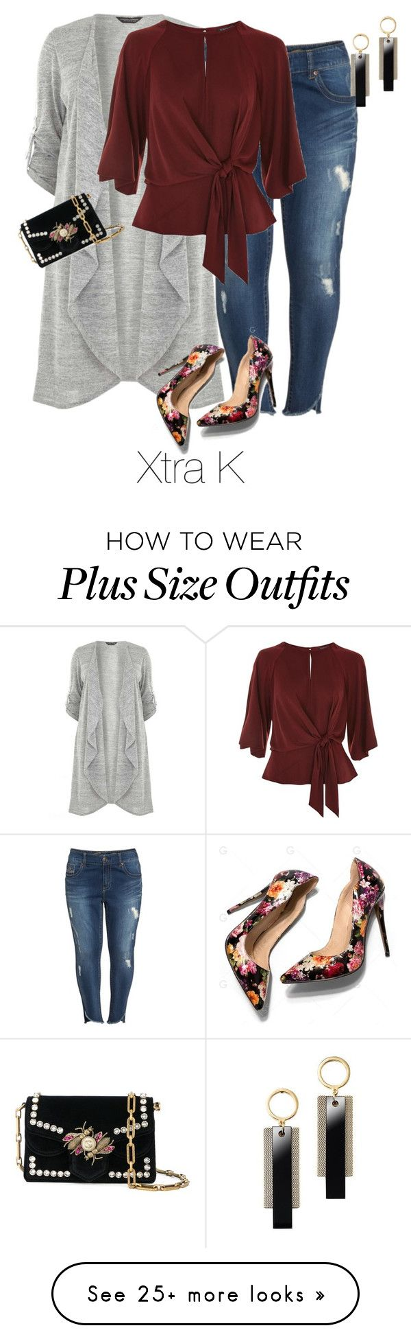 """Plus Easy Date Night"" by xtrak on Polyvore featuring Dorothy Perkins, Seven7 Jeans, Topshop, Avon and Proenza Schouler"