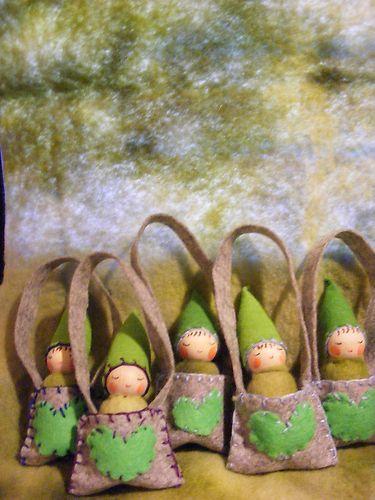 Fairydolls Little Peg Doll in a Felt Bag .Waldorf craft. | eBay
