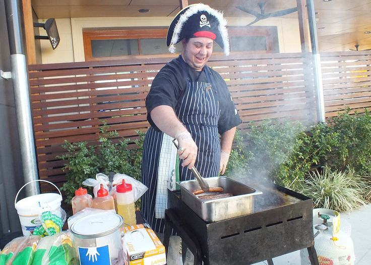 Our own Capn Ash the Pirate hat wearing BBQ slayer - every Friday from 3pm