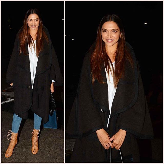 Deepika Padukone spotted at Mumbai airport last night, heading to LA for xXx3's promotions. . #xxxthemovie #deepika #bollywood #hollywood #deepikapadukone
