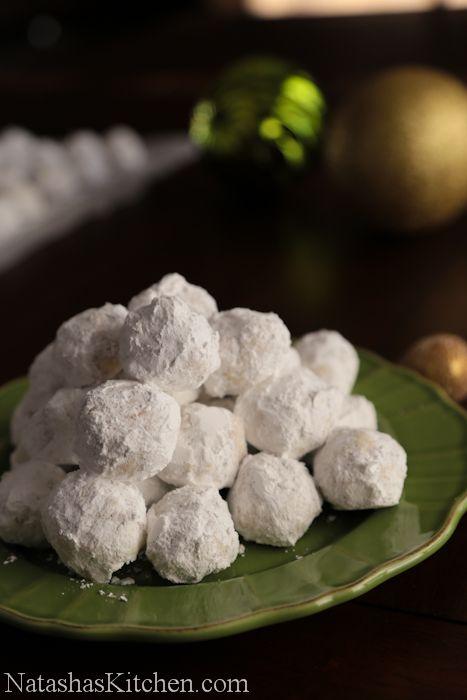 Russian Tea Cakes Recipe  #Russian_recipes #Russian_food #Russian_desserts