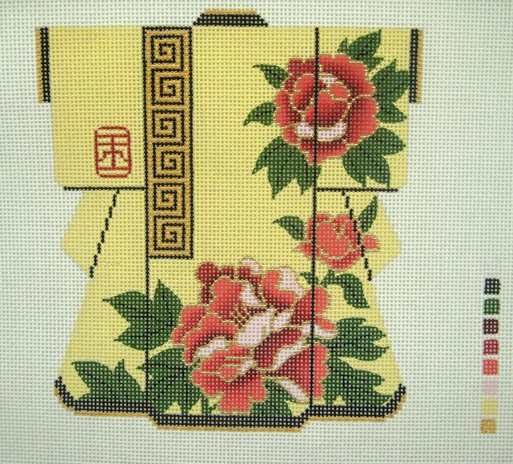 Geisha needlepoint erotic canvas