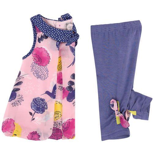 Deux par Deux - Graphic tunic and leggings - 172508