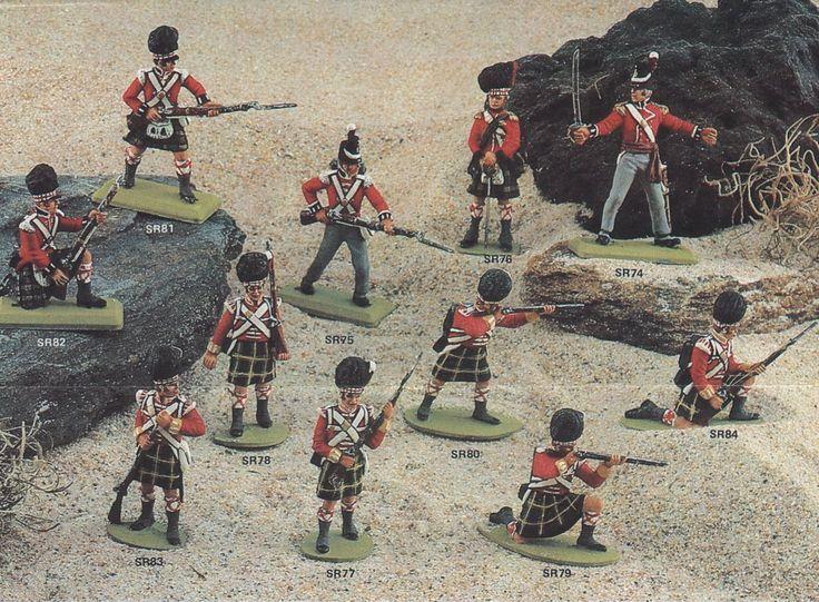 British Napoleonic Figure Molds for mold making.