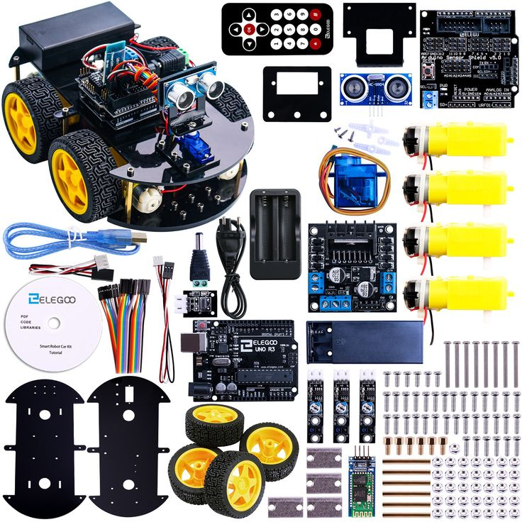UNO Project Smart Robot Car Kit with UNO R3 / Ultrasonic Sensor /Bluetooth module / Remote Educational Toy Car for ARDUINO-in Integrated Circuits from Electronic Components & Supplies on Aliexpress.com | Alibaba Group