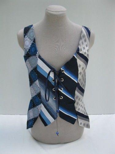 Tie Warrior Vest Vintage Neck Tie Small Medium by Embody on Etsy