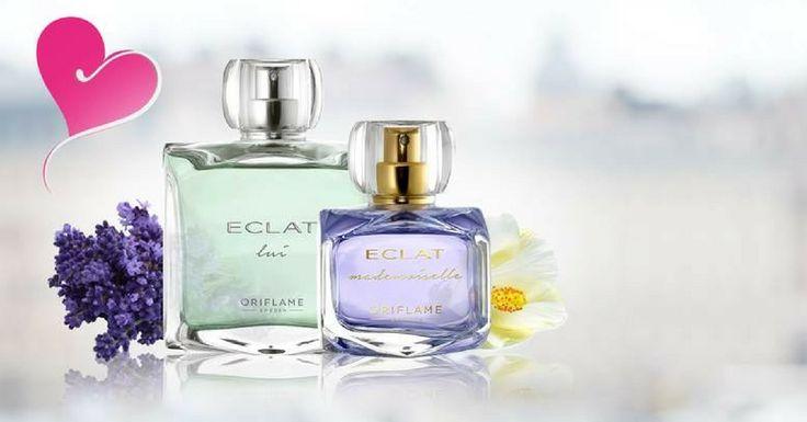 Totul despre noile parfumuri Eclat, lansate de Oriflame: Eclat Mademoiselle pentru femei si Eclat Lui pentru barbati