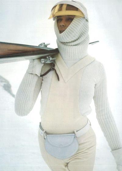 pierre cardin 1971. 1970s fashion . ski bunny