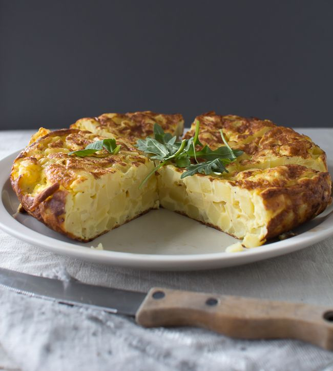 Tortilla de Patatas with Marcella Hazan's Butter Tomato Sauce | The Flourishing Foodie
