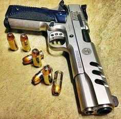 Smith and Wesson, 45acp, 1911, pistol, guns, weapons, self defense, protection, 2nd amendment, America, firearms, munitions #guns #weapons