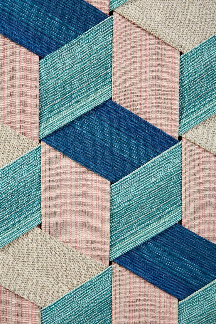 Woven Painting Cubes by Eva Pettersson