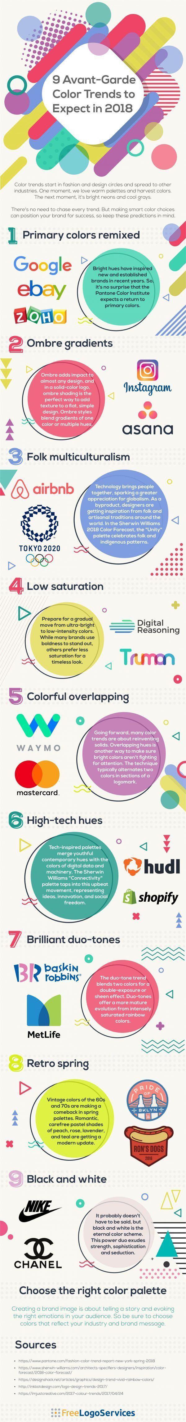 9 Colour Trends That Could Affect Your Marketing Strategy in 2018 [Infographic]