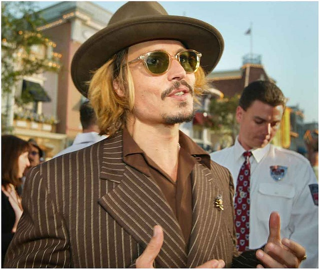Johnny Depp at Pirates of the Caribbean event #johnnydepp