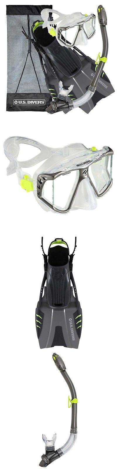 Snorkels and Sets 71162: U.S. Divers Panoramic View Adult Snorkel Set - Gun ... **Sale - Special Price** -> BUY IT NOW ONLY: $51.66 on eBay!