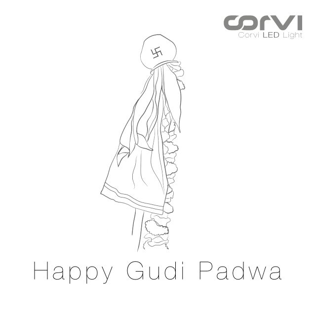 Wishing you countless joy, wealth, peace, and prosperity on this bright and auspicious occasion of Gudi Padwa.  Happy Gudi Padwa from Team Corvi.