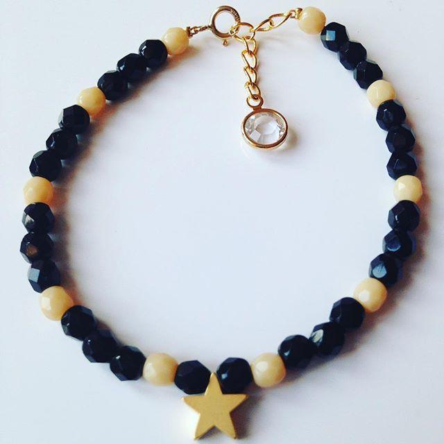 #bracelet#star#étoile#noir##doré