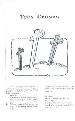 CANTINHO DAS HISTÓRIAS BÍBLICAS: TRÊS CRUZES. LIÇÃO PARA A PÁSCOA