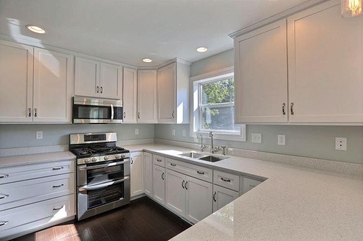 Custom White Painted Mission Style Cabinets from B & B ...
