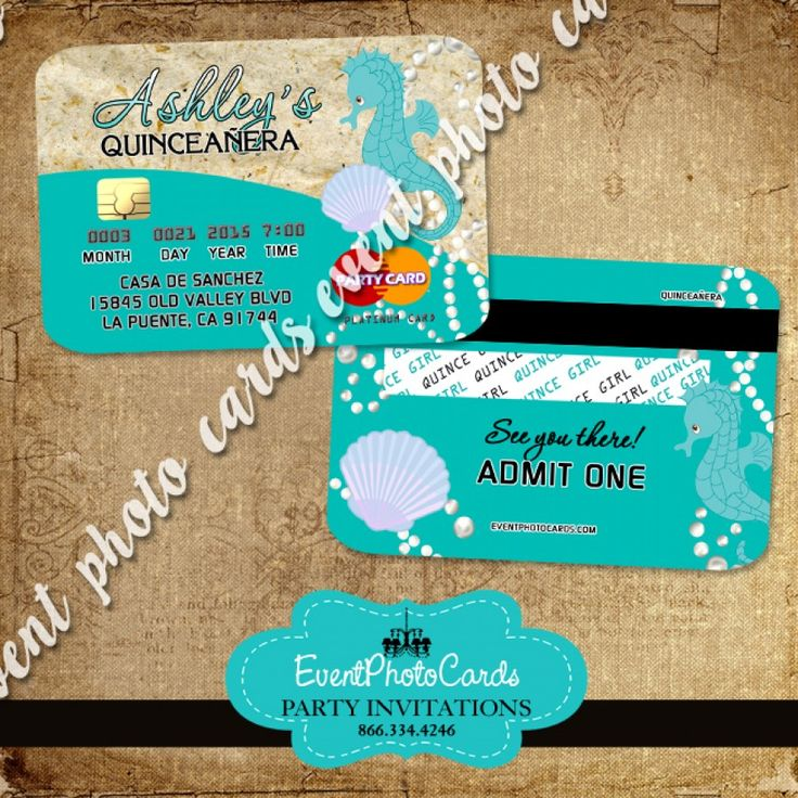 17 Best images about Seashell Under the Sea Party Ideas on Pinterest | Sweet sixteen invitations ...