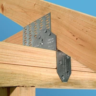 simpson strong tie 18 gauge saddle rafter tie hs24 the home depot exterior pinterest. Black Bedroom Furniture Sets. Home Design Ideas