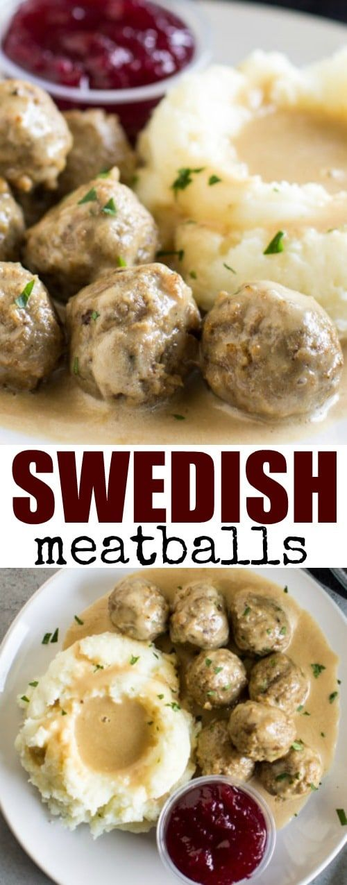 The best Swedish meatballs are made from scratch with an easy homemade gravy. Freezer friendly!