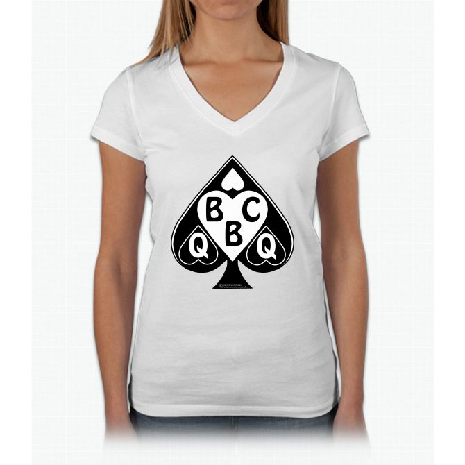 Queen Of Spades Loves Bbc Women's Tank Top Womens V-Neck T-Shirt