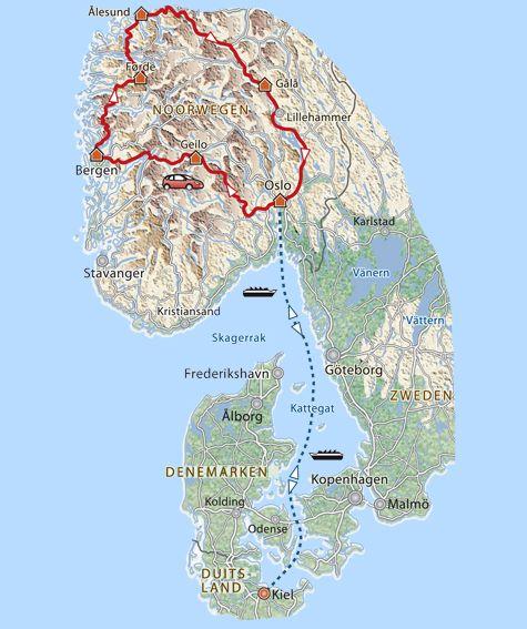 Route Noorse Fjorden