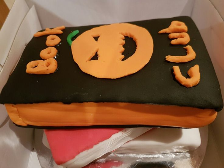 Halloween theme book cake