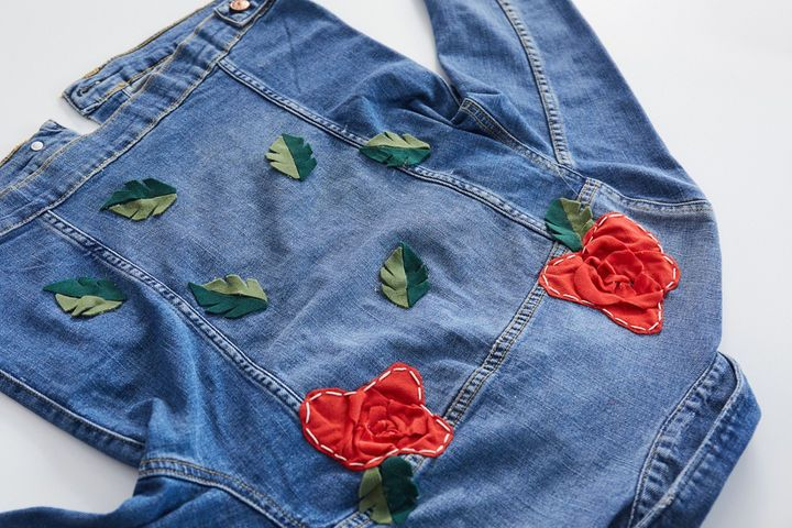 Add floral embellishments to your denim jacket with help from withwendy | Sewing, Fashion design