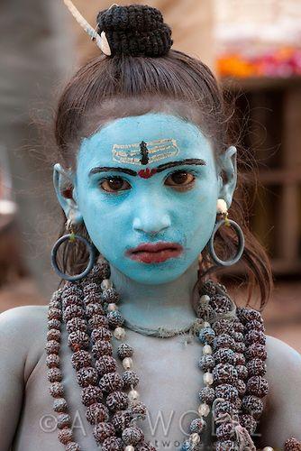 A Young Boy Dressed as Shiva, Pushkar, India