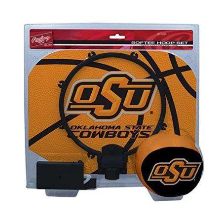 Oklahoma State University Cowboys Slam Dunk Indoor Basketball Hoop Set Over The Door